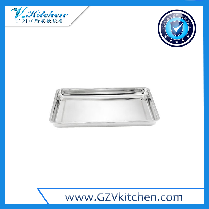 Heavy Duty Rectangular Stainless Steel Serving Trays
