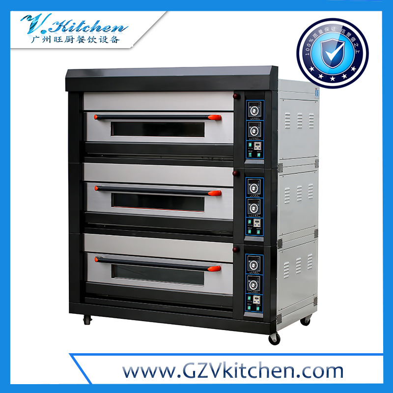 Luxurious Electric Deck Oven 3-Layer 6-Tray