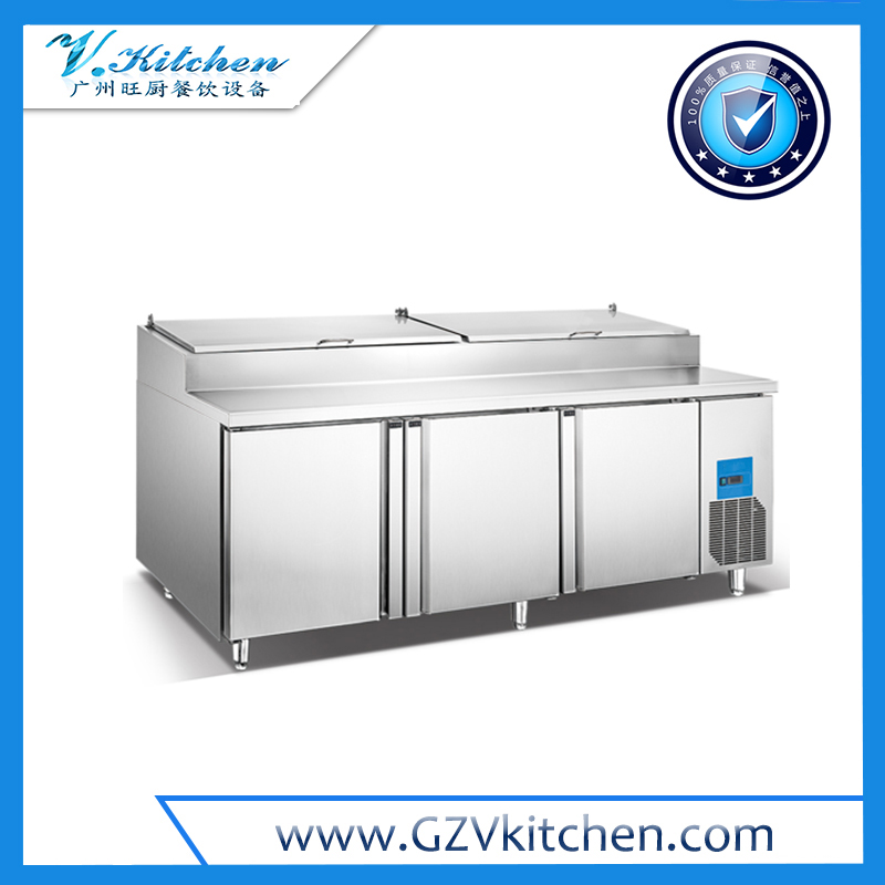 Under Counter Refrigerator 3 Door with Salad top