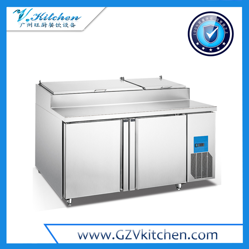 Under Counter Refrigerator 2 Door with Salad top