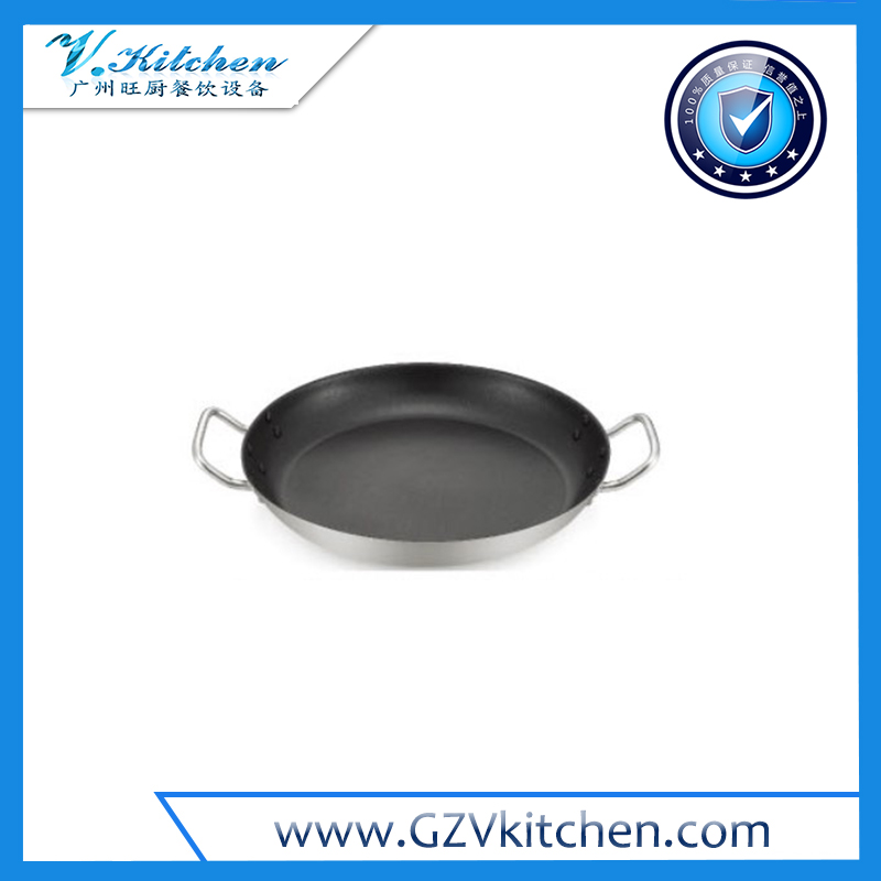 S.S.Non-Stick Frypan With Sandwich Bottom & Two Handles