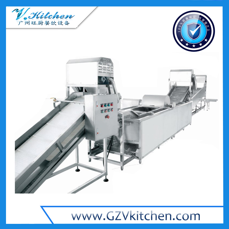 Automatic Consecutive Leaf Vegetable Processing Line 1000