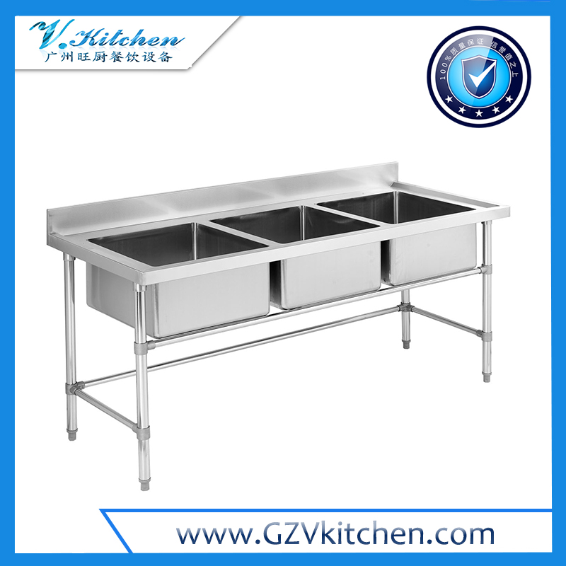 Stainless steel 3-Bowl Sink